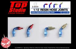 1:12 Resin Hose Joints (2.5mm)