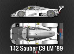 1:12 Sauber C9 Le Mans 1989 Full Detail Kit