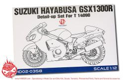 1:12 Suzuki Hayabusa GSX 1300R Detail-up Set For Tamiya 14090