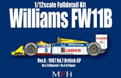 1:12 Williams FW11 Ver.A Full Detail Multi Media Kit