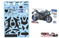 1:12 Yamaha YZF-R1M Decals Sheet (inc Carbon Fibre)