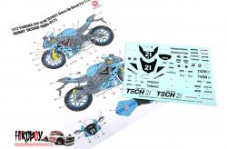 "1:12 Yamaha YZF-R1M ""Tech21"" Dress up Decal For Tamiya"