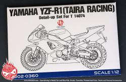 1:12 Yamaha YZF-R1 (Taira Racing) Detail-up Set For Tamiya
