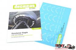 1:20 Goodyear Eagle Tyre Decals white