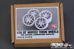 "1:18 20"" Novitec Tordo Wheels for Lamborghini Huracan (for Autoart)"
