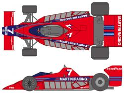 1:20 Brabham BT46 1977 Prototype Sweden Decals for Fujimi