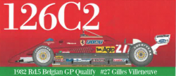 1:20 Ferrari 126C2 Belgium GP Full Detail Kit
