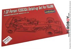 1:20 Ferrari F2003-GA Photoetch Detail-Up Set for Fujimi