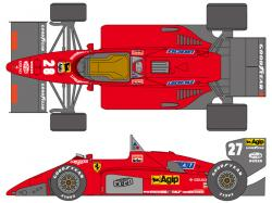 1:24 Ferrari 156/85 1985 Early Decals