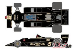 1:20 J.P.S. Team Lotus Type79 1978 Decals for Tamiya