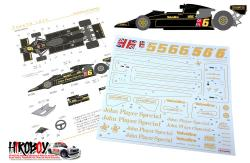 1:20 Lotus Type 78 (1977) JPS Decals (Tamiya)