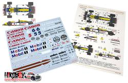 1:20 Williams FW11B 1987 Decals (Tamiya)