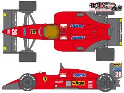 1:24 Ferrari F187 Sponsor Decal Set (for Protar)
