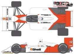 1:20 McLaren MP4/4 1988 Sponsor Decal Set (for Tamiya)