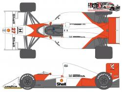1:20 McLaren MP4/5B 1990 Sponsor Decal Set (for Tamiya)