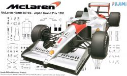 1:20 Mclaren MP4/6 Honda - Japan GP 1991 (GP10)