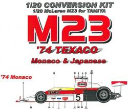 1:20 Mclaren M23 '74 Texaco Conversion Kit - EJP-841
