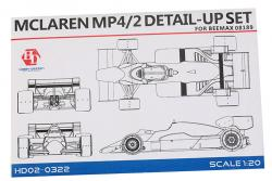 1:20 Mclaren MP4/2 Phototetched Detail-up Set (Beemax)