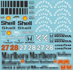 1:20 Mclaren MP4/5B Full Sponsor Decal (Marlboro) for Tamiya