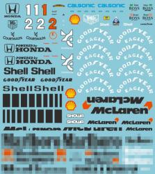 1:20 Mclaren MP4/6 Full Sponsor Decal (Marlboro)