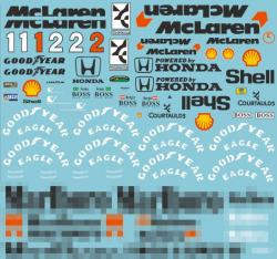 1:20 Mclaren MP4/7 Full Sponsor Decal (Marlboro)