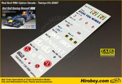 1:20 Red Bull RB6 Option Decal for Tamiya Kit 20067