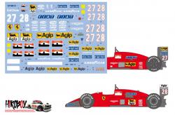 1:20 Ferrari F187/F187/88C Decals for Fujimi