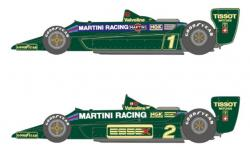 1:20 Martini Lotus Type79 1979 early Decals for Tamiya