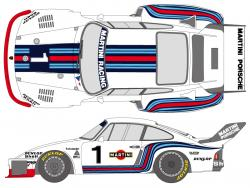 1:20 Martini Porsche 935 1976 (for Tamiya kit #20005)