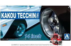 "1:24 14"" Kakou Tecchin Type 3 Wheels and Tyres"