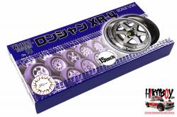 "1:24 15"" Longchamp XR-4 Wheel and Tyre Set (#18)"