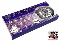 "1:24 17"" Wire Wheels and Tyres (#14)"
