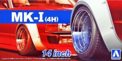 "1:24 14"" SSR Mk1 (MK-I) Speed Star Wheels and Tyres (4H)"