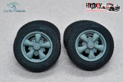 "1:24 15"" Wheels EMPI GT-5 with Tyres"
