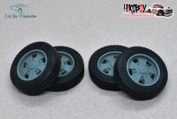 "1:24 15"" Wheels EMPI Raider with Tyres"