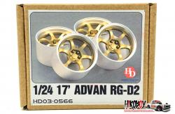 "1:24 17"" Advan RG-D2 Resin Wheels"