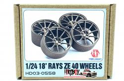 "1:24 18"" Rays ZE40 Resin Wheels"