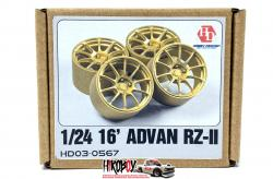 "1:24 16"" Advan RZ-II Resin Wheels"
