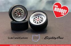 "1:24 17"" CCW Classics (4 Lug Nut Version) Wheels and Tyres"