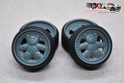 "1:24 17"" Wheels Ronal Teddy Bears w Stance Tyres"