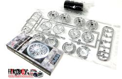 "1:24 17"" Wire Wheels and Tyres (Silver)"