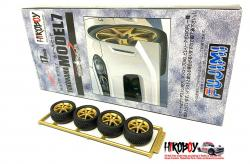 "1:24 17"" Yokohama Model 7 Wheels and Tyres"