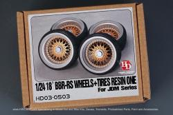 "1:24 18"" BBS RS Wheels and Tyres For JDM Series"