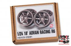 "1:24 18"" Advan Racing R6 Resin Wheels"