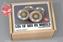 "1:24 18"" BBS RS Wheels For JDM Series (Resin+Metal +Decals)"