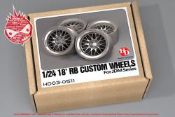 1:24 18' RB Custom Wheels For JDM Series (Resin+Metal Wheels+PE)