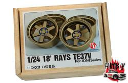 "1:24 18"" Rays Volk Racing TE37V Resin Wheels"