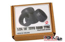 "1:24 18"" Toyo R888 Tyres (4) Hard Resin Version"