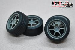 "1:24 18"" Wheels HRE 446r with Tyres"