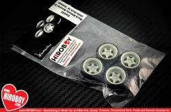 "1:24 18"" Work Meister S1 Deep Dish wheels and Tyres"